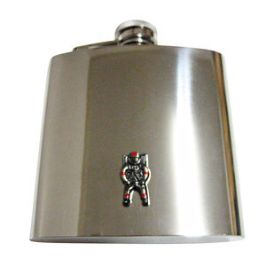 Gunmetal Toned Space Astronaut Large Flask
